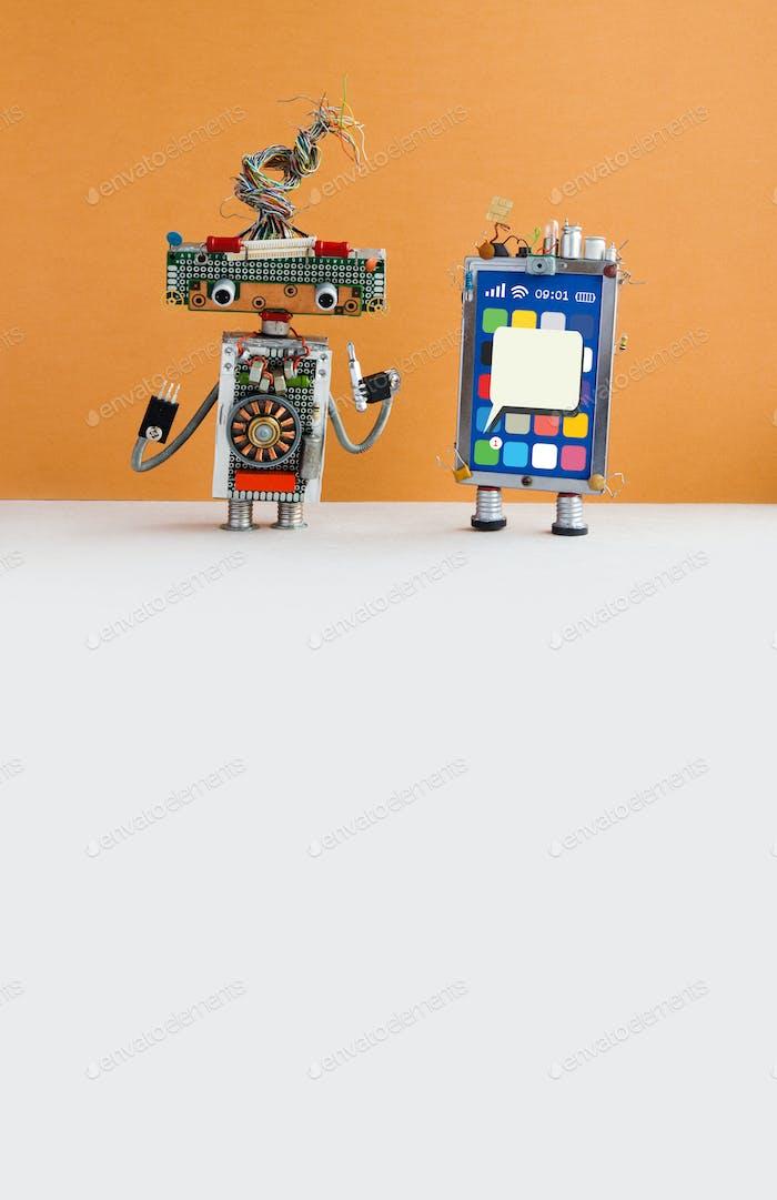 Mobile zellulare Reparatur Service Werbeplakat