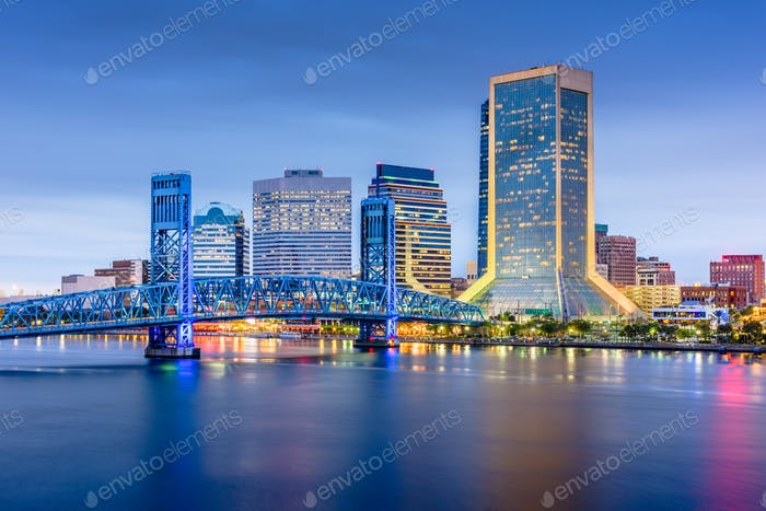 Jacksonville, Florida, USA downtown city skyline