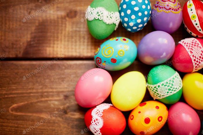 Assortment of Easter eggs