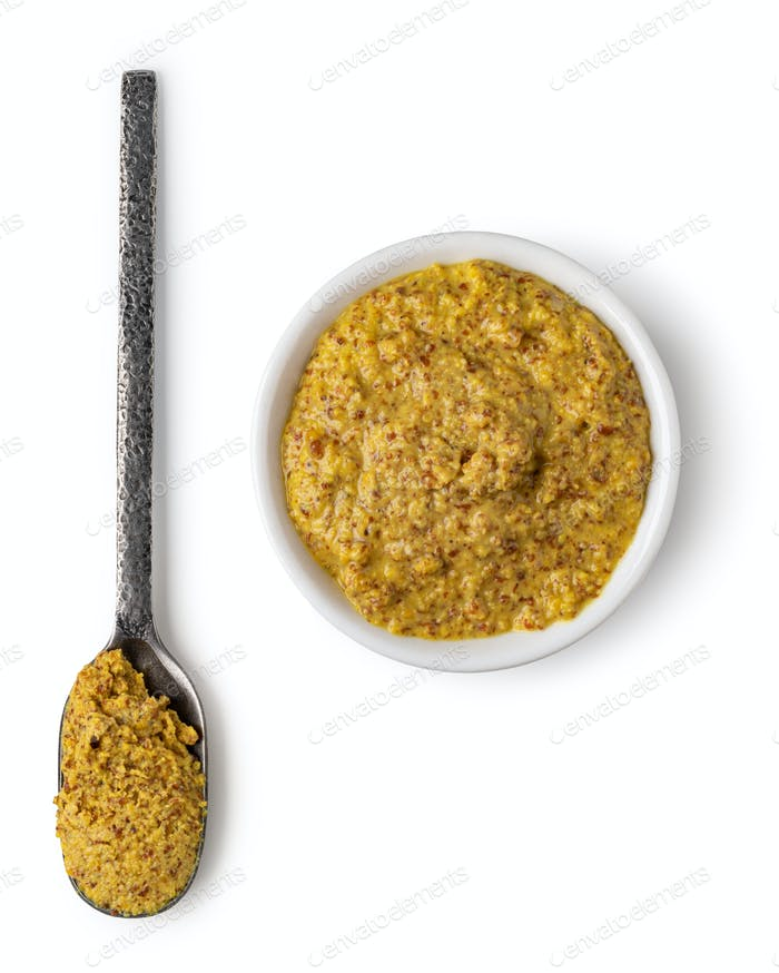 Bowl with mustard