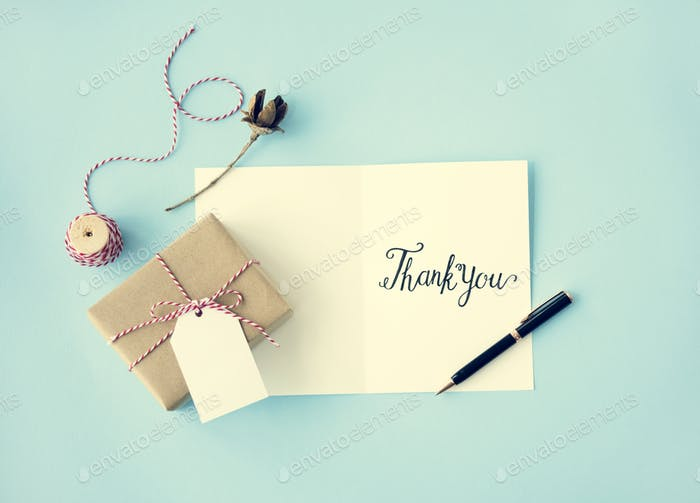 Thank You Thanks Gratitude Gift Appreciate Concept