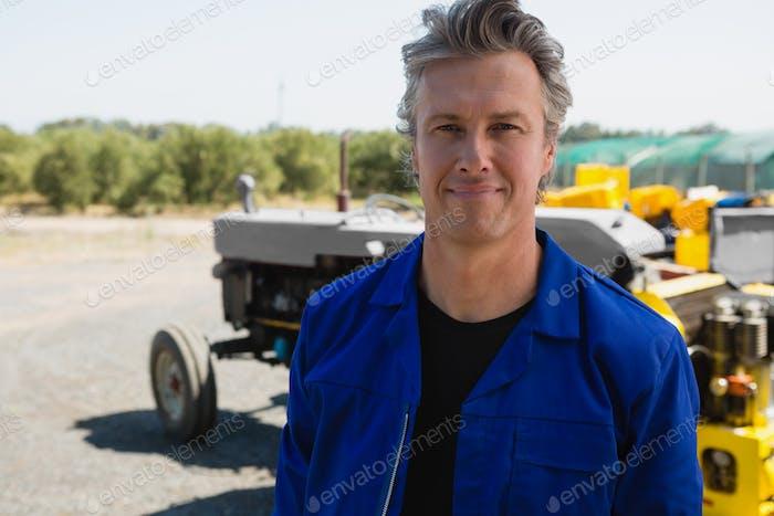 Handsome smiling worker