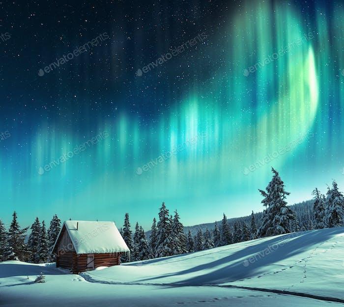Fantastic landscape with orthen light