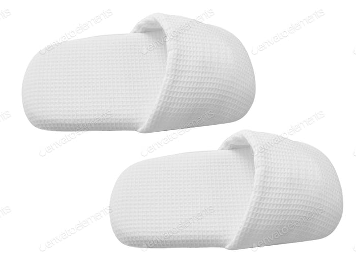 home slippers isolated on white
