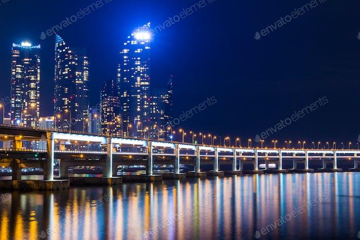 Busan city in South of Korea