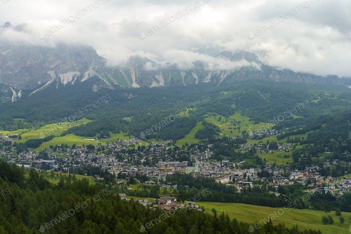 View of Cortina d Ampezzo, Dolomites, Italy