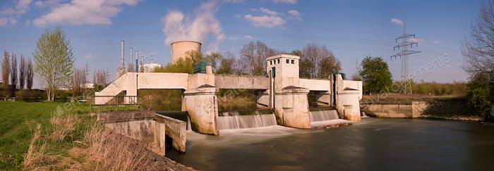 Weir Langzeitbelichtung Panorama