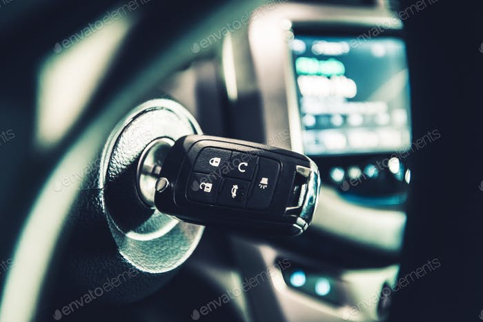 Modern Car Ignition Keys