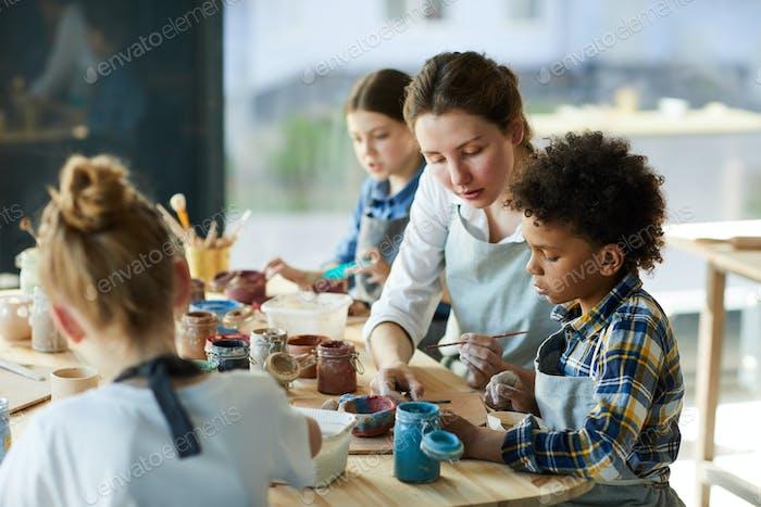Malen mit Lehrer
