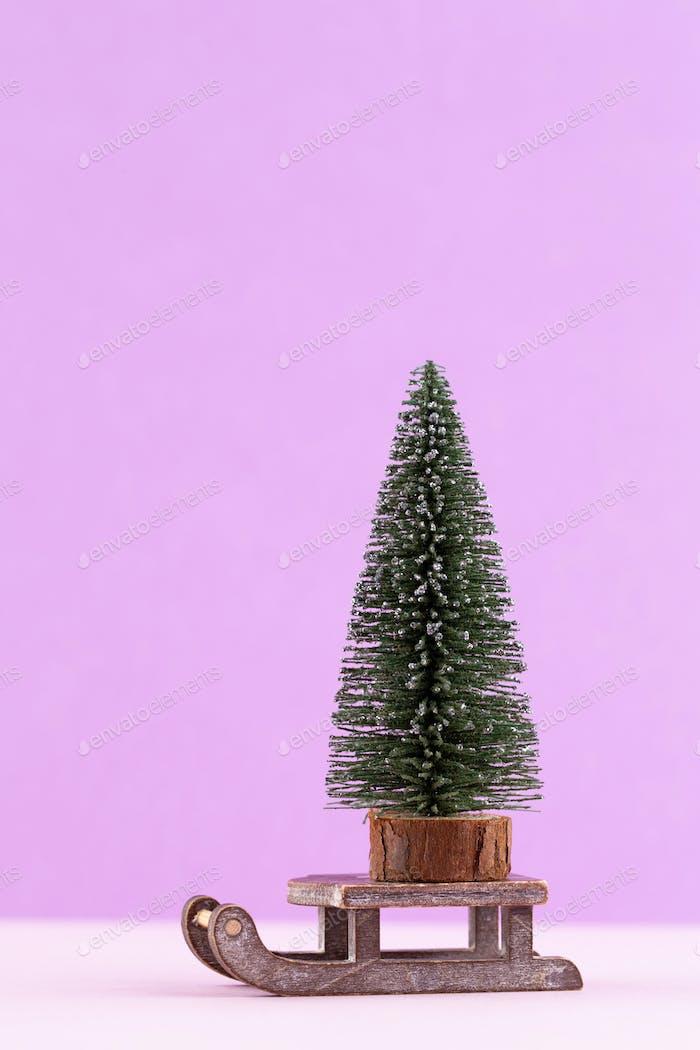 Weihnachten oder Neujahr minimalen Konzept.