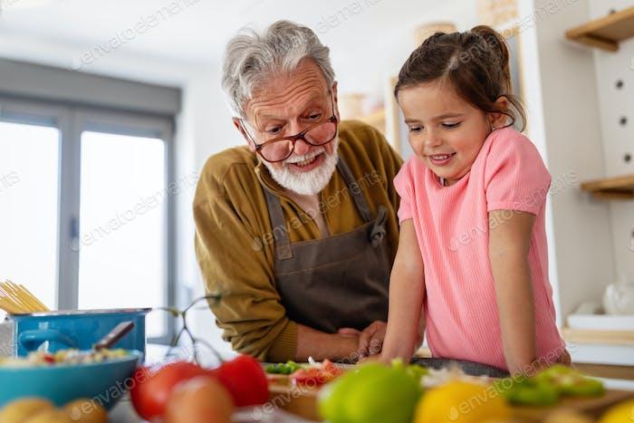 Happiness family love fun grandparent grandchild concept