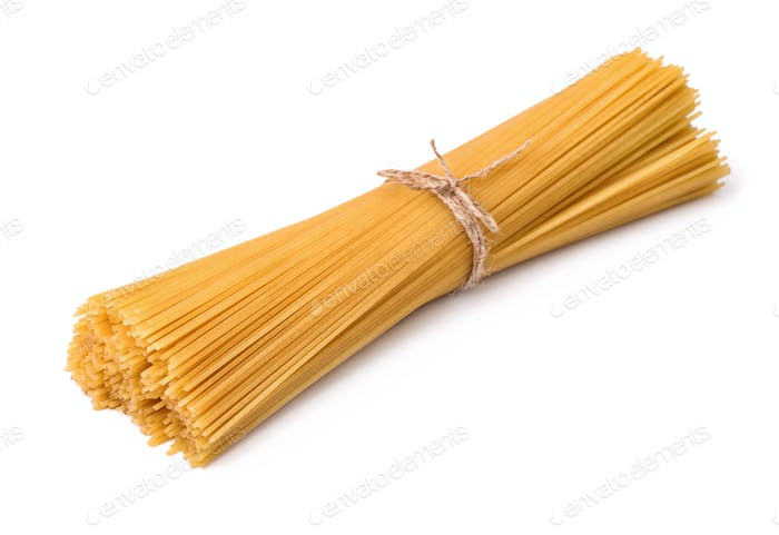 Bunch of raw italian pasta