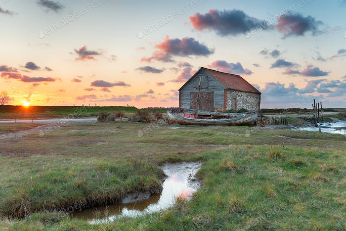 Beautiful Sunset at Thornham Old Harbour
