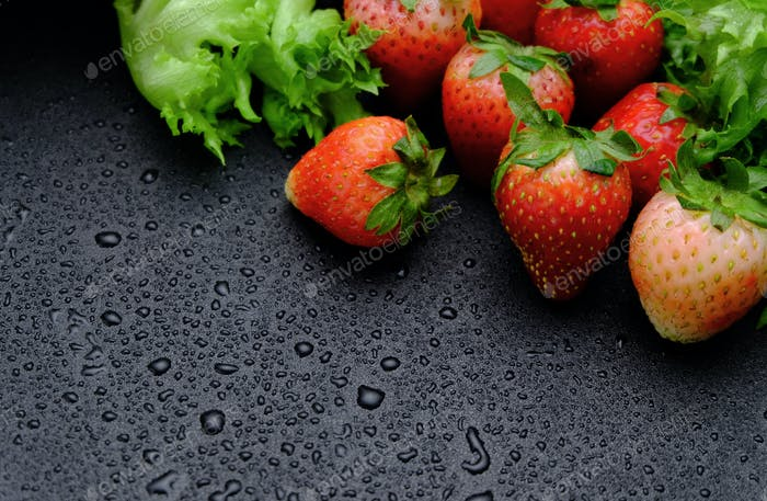 Vivid strawberry and vegetable