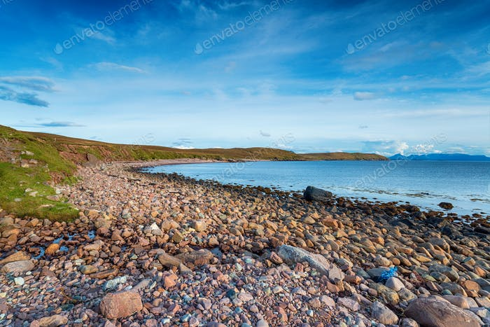 The pebble beach at Raffin on Stoer Head