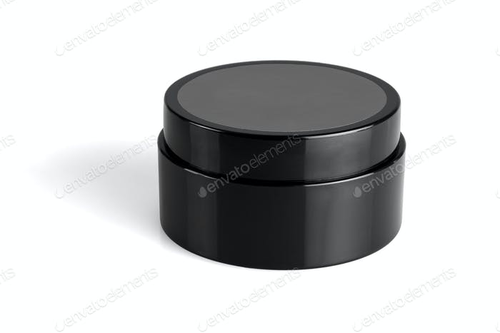 Black Plastic Container