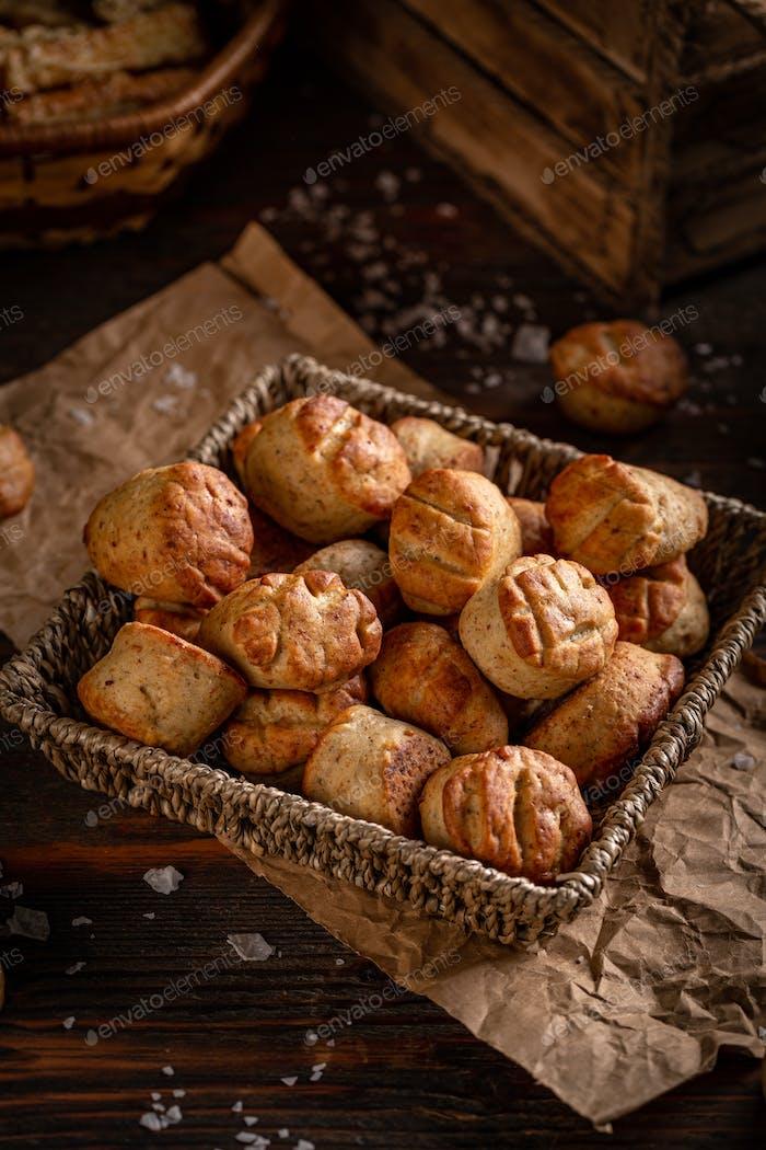 Salty snacks or pastries