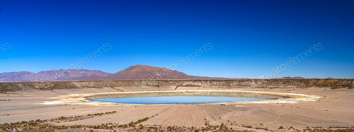 Big crater in Altiplano