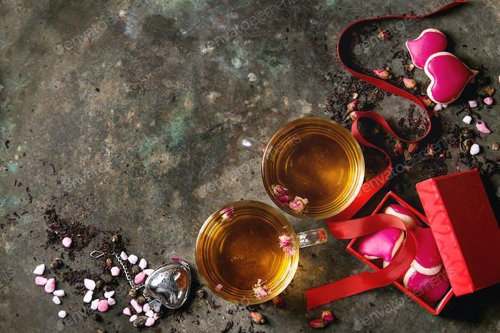 Love Valentine tea greeting card