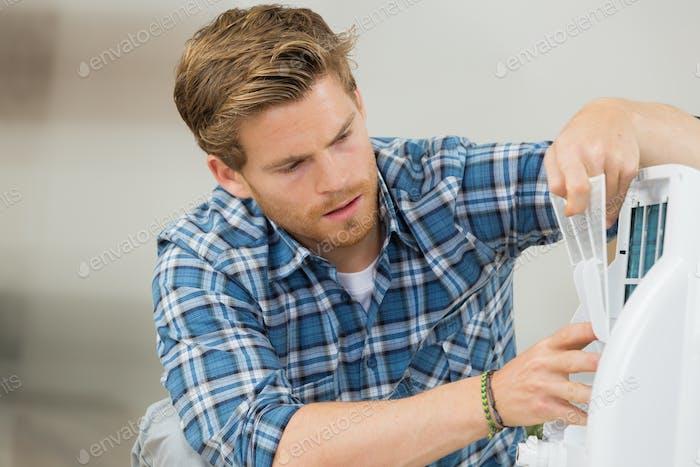 Reinigung des Filters