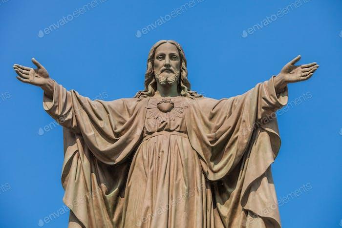 Außen Statue von Jesus