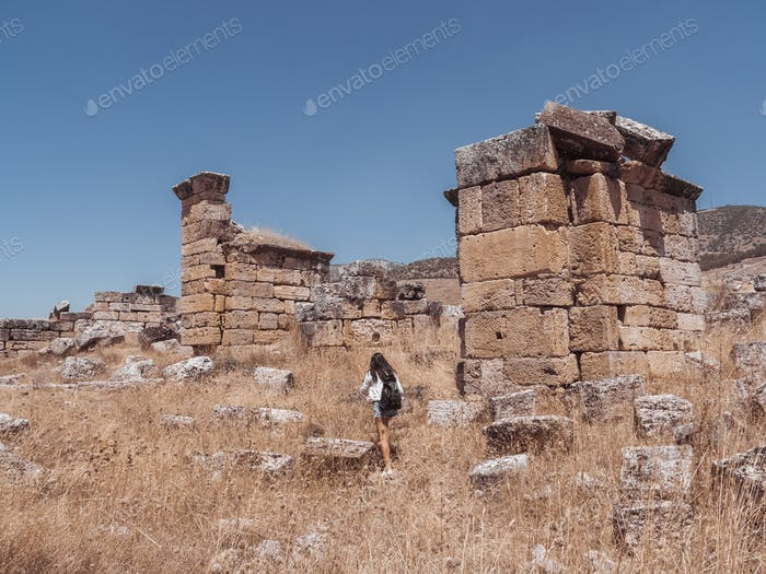 Hierapolis City Ruin in Turkey in Pamukkale