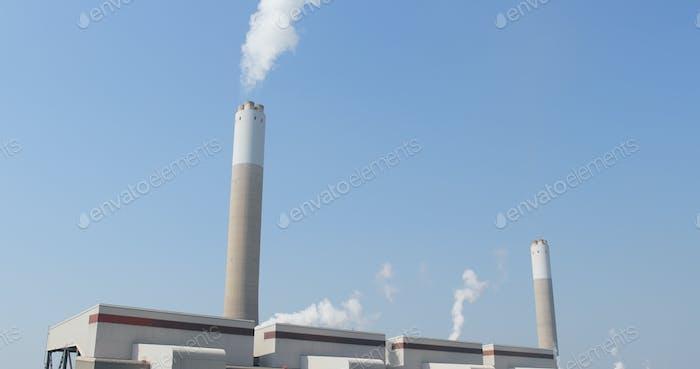 Schornstein und Rauch