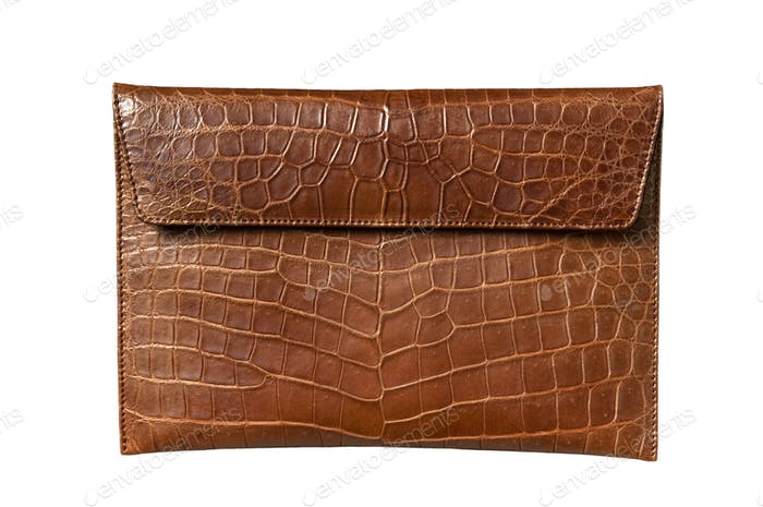 Exotic leather bag for Pad, hide, skin in brown color
