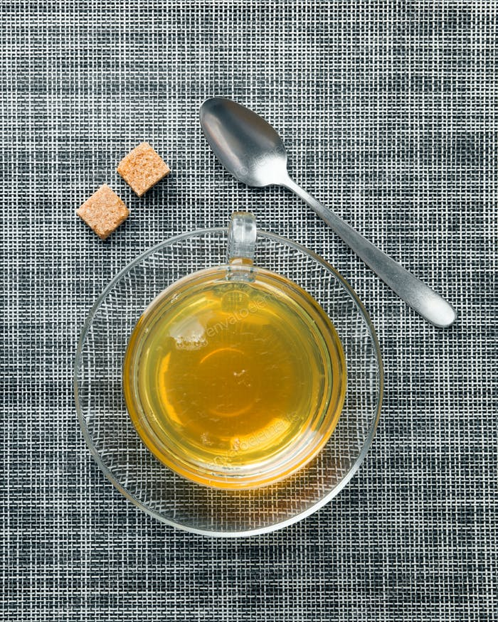 tea cup on mat