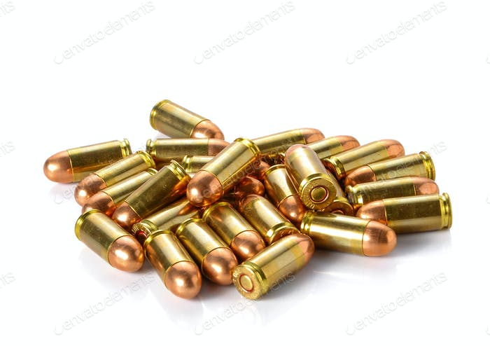 Bullet placed on white background.