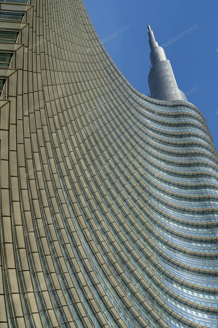 Modern buildings at Gae Aulenti square in Milan