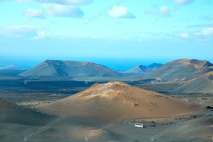 Volcán de la Isla de Lanzarote, España