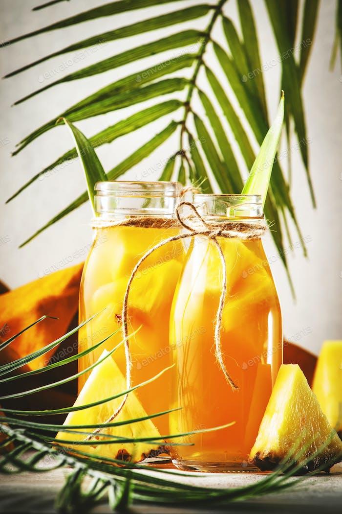 Fermented Pineapple Kombucha Drink Tepache