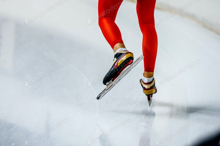 Feet Woman Speed Skater