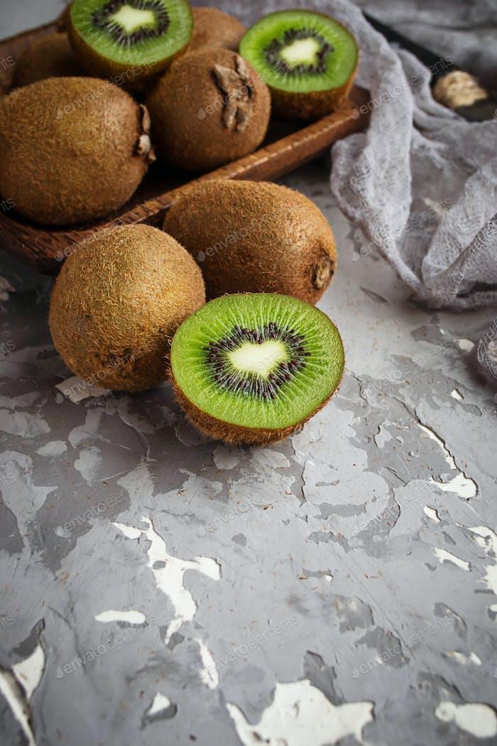 Raw fresh kiwi