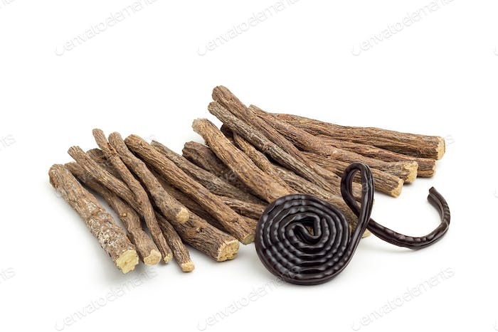 Licorice roots and wheel