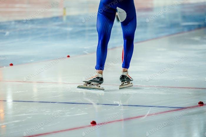 Muskuläre Beine Mann Eisschnellläufer