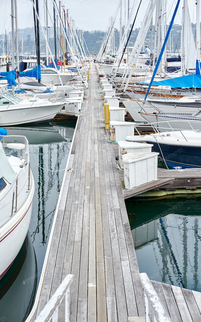 Marina in Sausalito, San Francisco, California