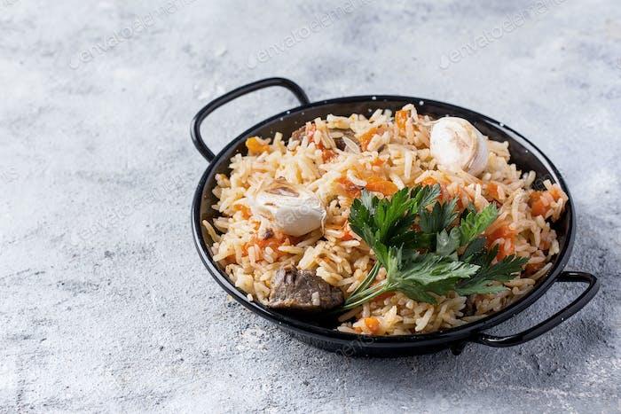 Lamb pilaf rice