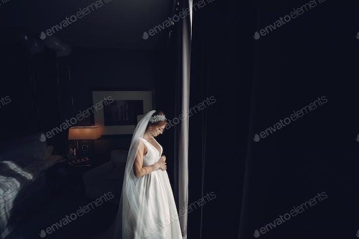 Elegant morning bride