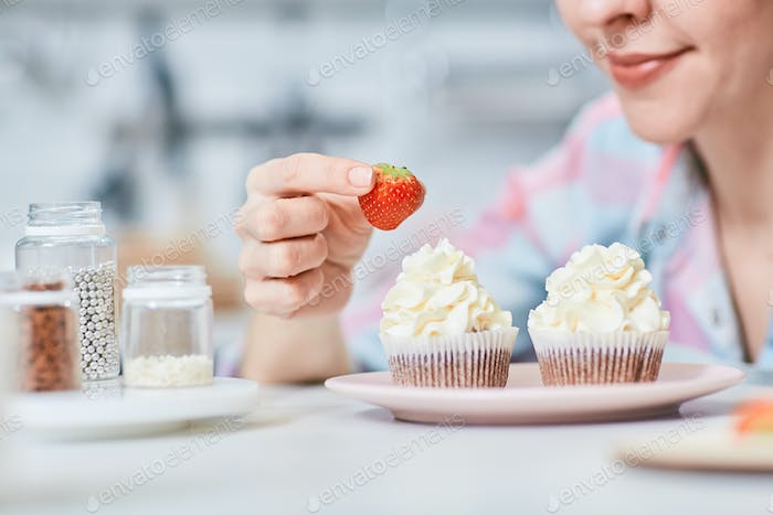 Strawberry for cupcake
