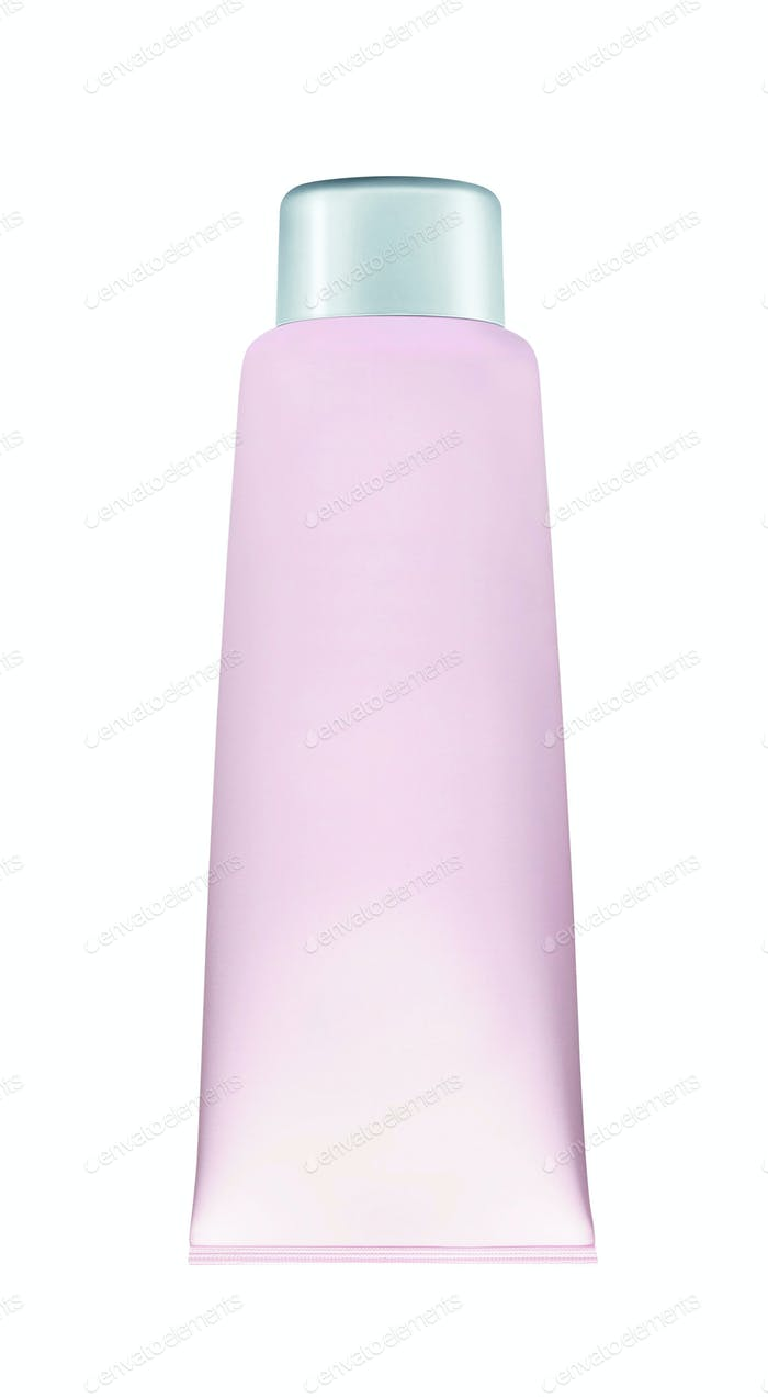Light purple cosmetic cream tube