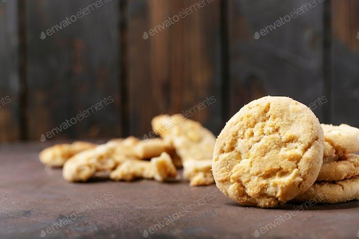 Homemade white chocolate chunk cookies