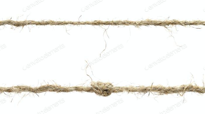 Seil isoliert auf weißem Hintergrund