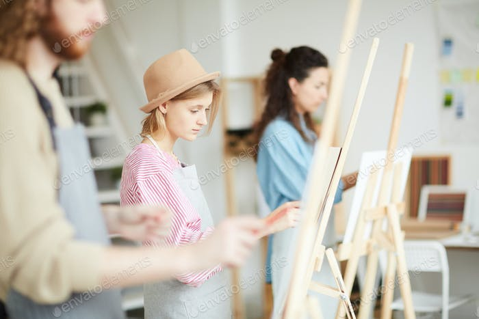 Lesson in studio of arts