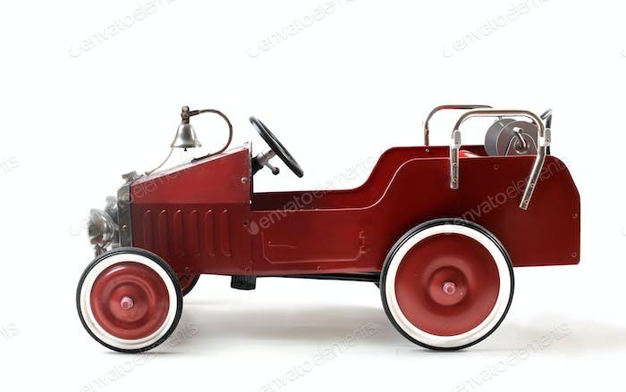 A toy vintage car