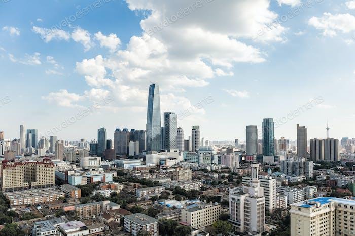 modern tianjin cityscape