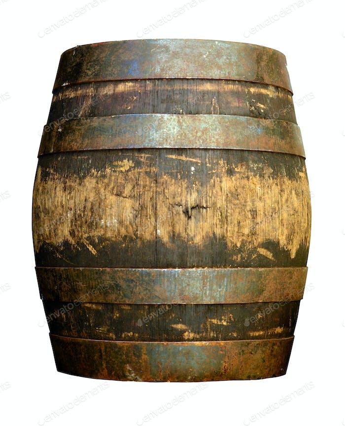 Isolated beer barrel