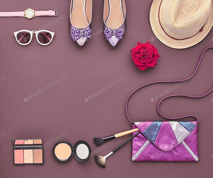 Fashion Stylish Accessory Set. Essentials Cosmetic