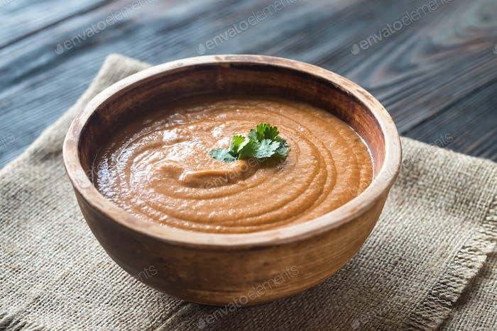 Schüssel Bisque Suppe